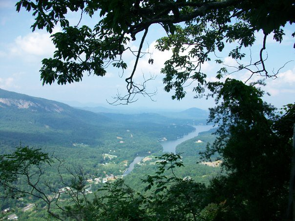 view from the top of Lake Lure