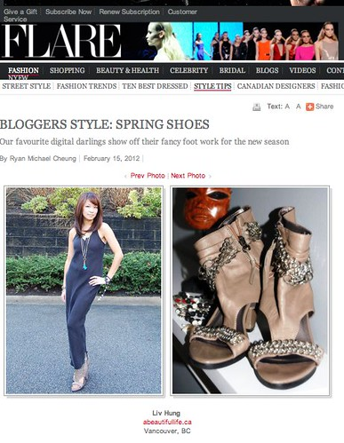 FLARE Magazine Spring Shoe Feature