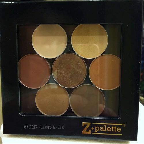 MAC Eyeshadows in Small Black Z Palette