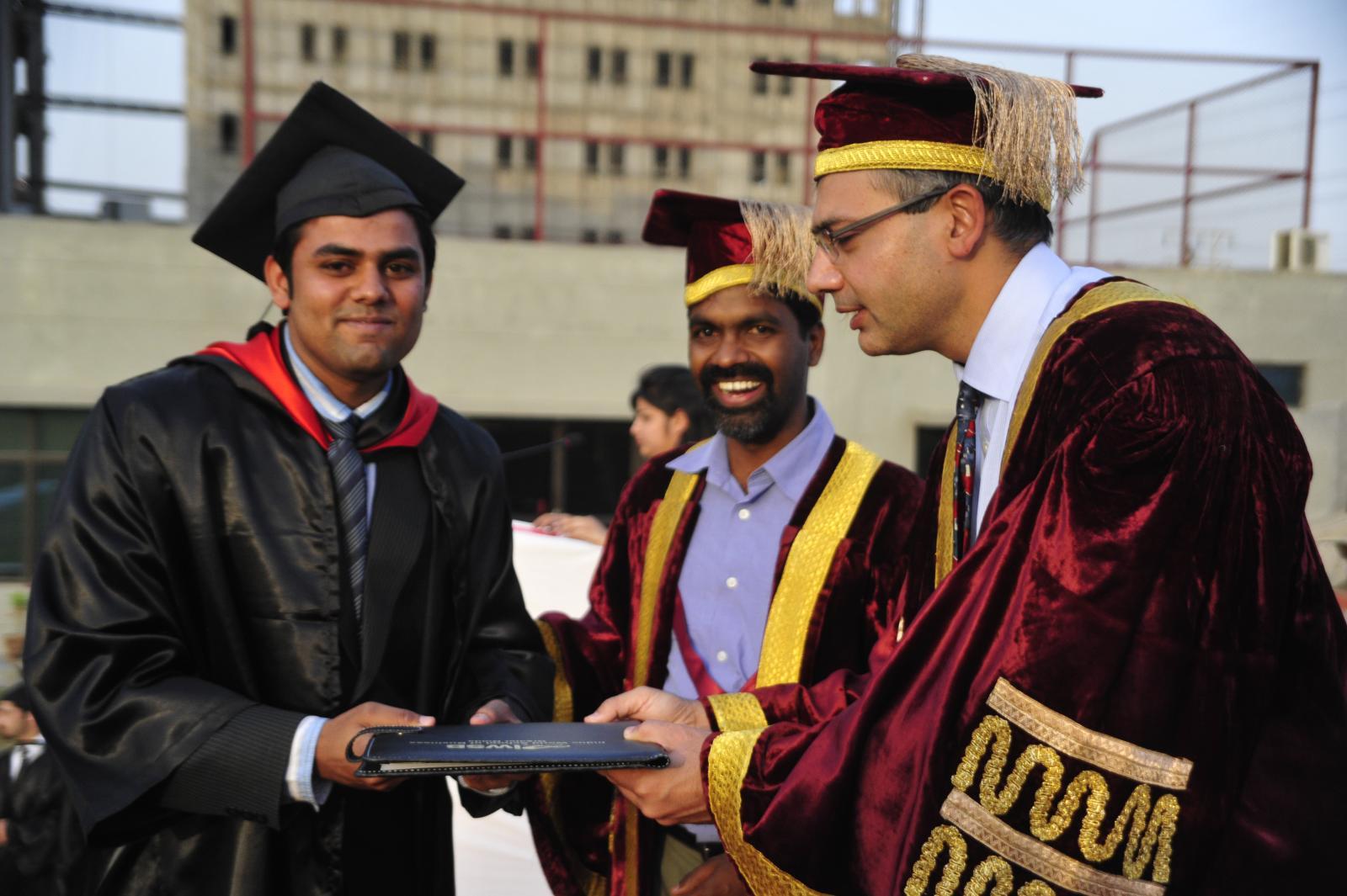 Saurabh receiving the degree