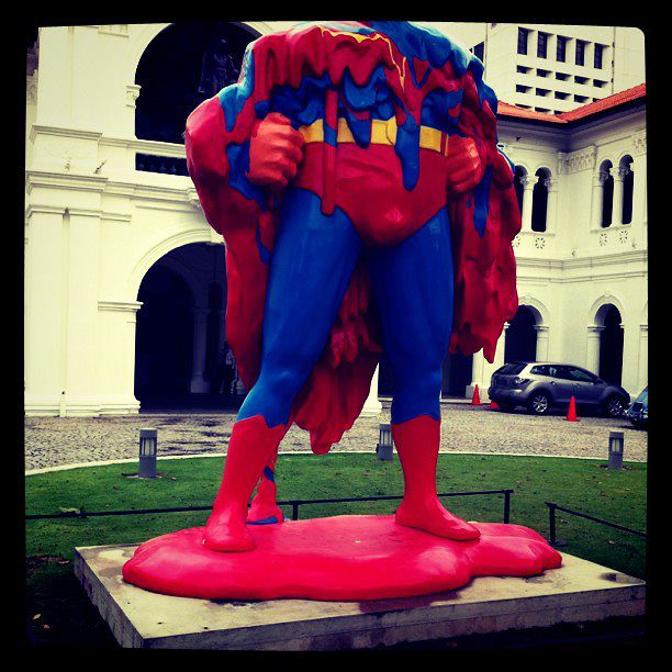 18 Jan - The weather in Singapore is so hot even Superman melts