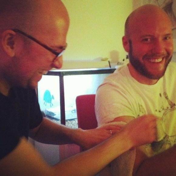 Tattly tatoo in the making!