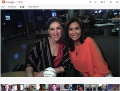 Google+ Hangout with Mayim Bialik at LA Fox 11