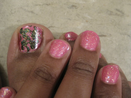 Black and Pink and Glittery All Over