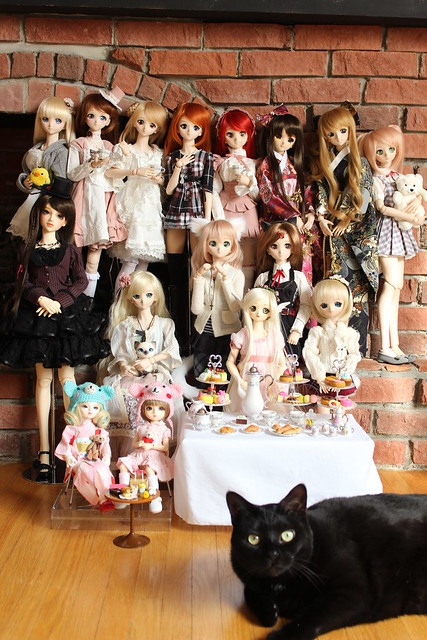 Doll Tea Party + Bubba!