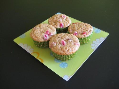Vegan cranberry muffins