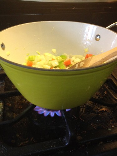New light cast iron soup pot