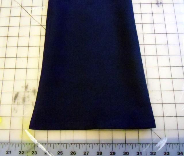 Navy Trousers - flare leg