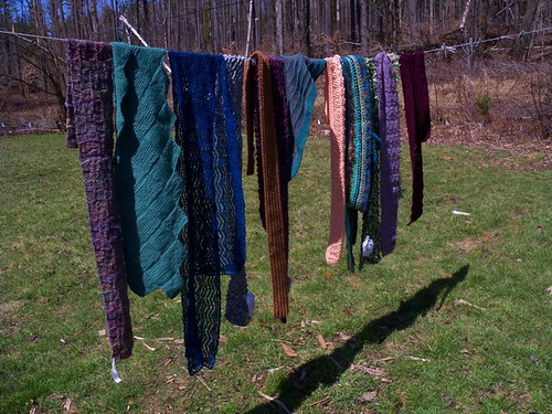 scarves on a line