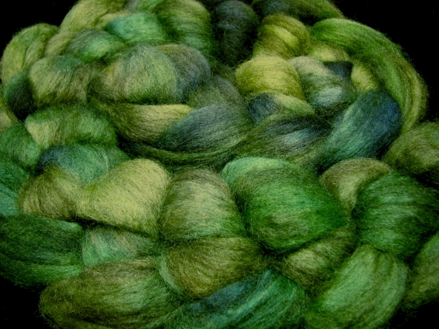 Forest - Mixed BFL Wool for Spinning