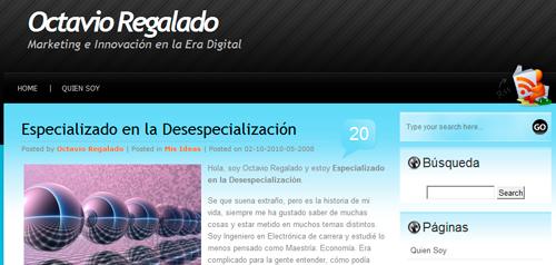 Presentación Blog Octavio Regalado