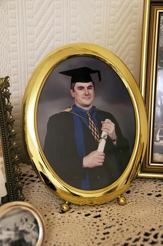 Nana: Pete's graduation photo.