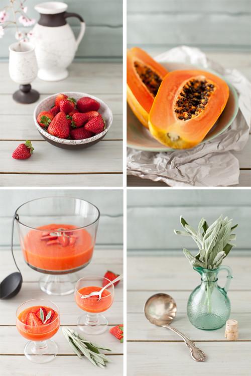 Papaya Strawberry Soup 9