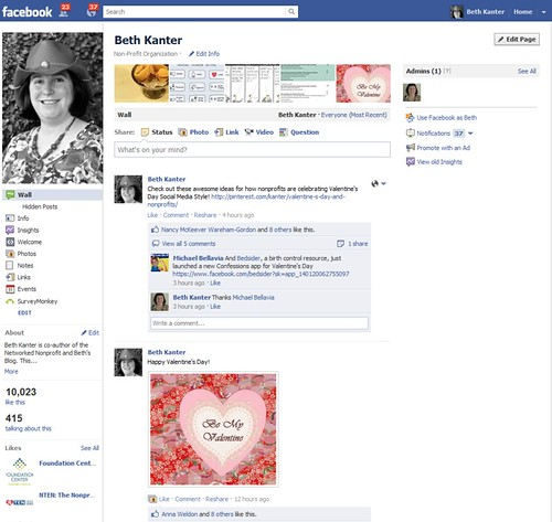 Beth Kanter Facebook Page