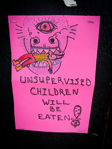 unsupervised children will be eaten