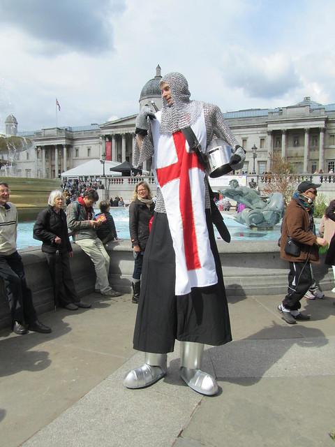 St George's Day celebrations at Trafalgar Square, 21st April 2012
