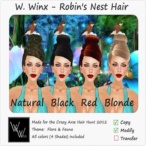 CRAZY HAIR HUNT - W. Winx Robin's Nest Hair @ The Deck