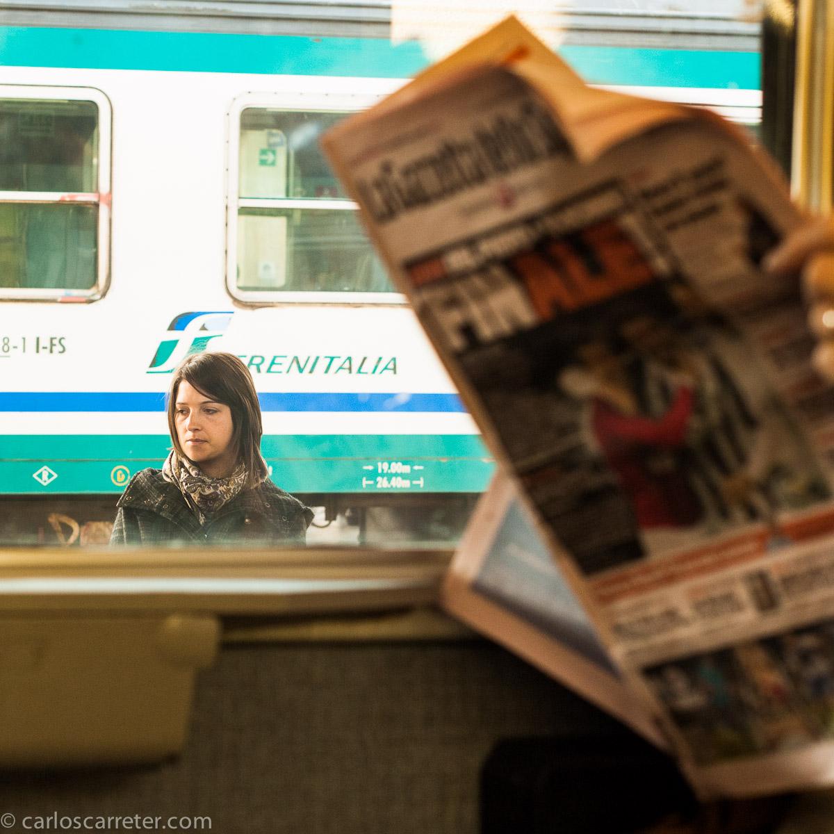 En la estación de Bolonia
