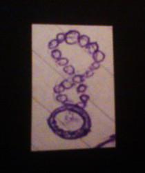 A doodle of an amulet