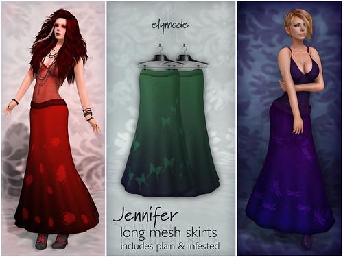 Jennifer skirts for Flux