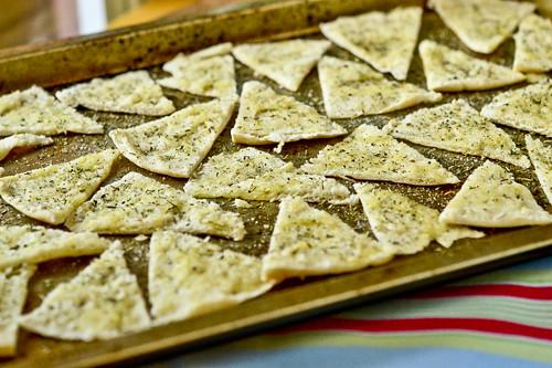 Hummus with Parmesan Herb Pita Chips 9
