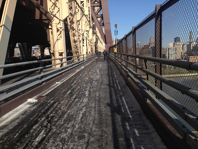 Slush on the Queensboro Bridge