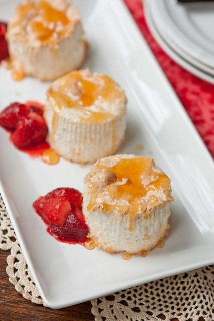 Mini Grapefruit Angel Food Cakes