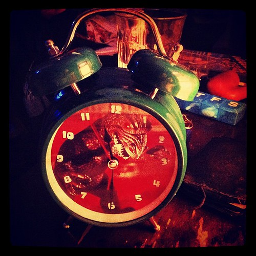 233: the beau's new alarm clock is being tested.