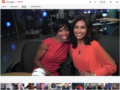 Google+ Hangout with Regina King at LA Fox 11