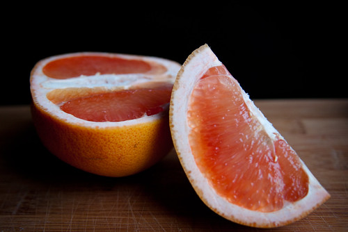 Grapefruit from the side