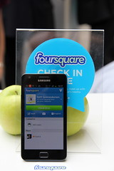 NFC checkin by Foursquare