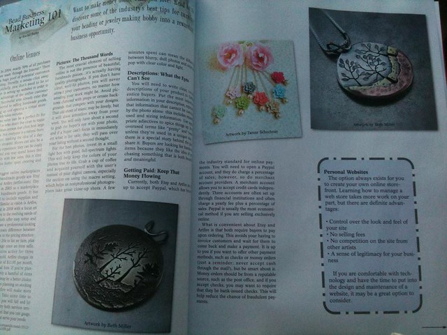 Beth Millner Jewelry in Bead Design Studio Magazine