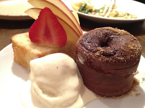 デザートの黒糖フォンダンショコラ@日本酒の新しい楽しみ方を学ぶ!ワークショップ