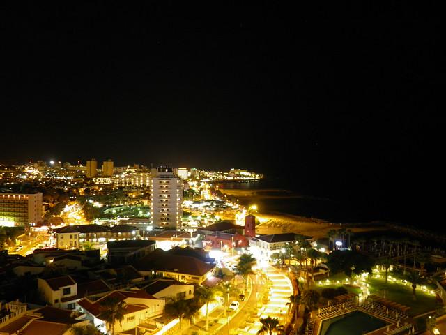 Ночной вид из окна // Night view from window