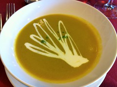 Corn and Asparagus Soup from Et Voila in San Luis Obispo