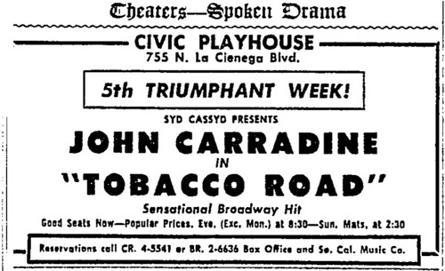 tobacco road 1954 ad