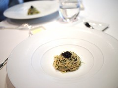 Cold angel hair pasta, Oscietra caviar. Gunther's, 36 Purvis Street