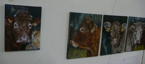 Paintings / portraits / cows