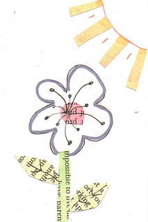 index card flower collage
