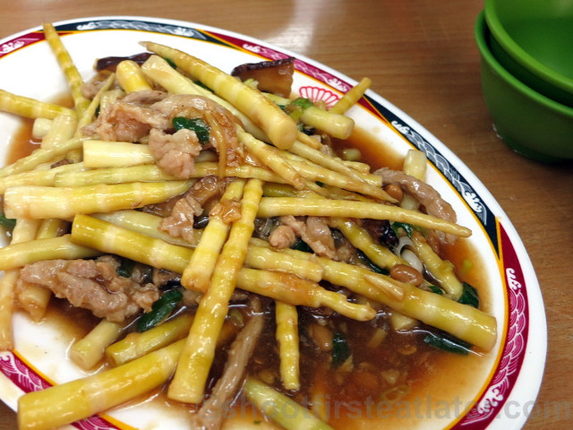 fresh bamboo shoots with pork