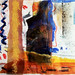 Orange Pool, 28cm x 30cm, mixed media