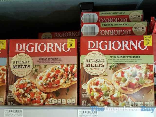 DiGiorno Artisan Melts (Chicken Bruschetta and Spicy Sausage Pomodoro)
