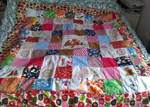 Patchwork Baby Decke / Krabbeldecke