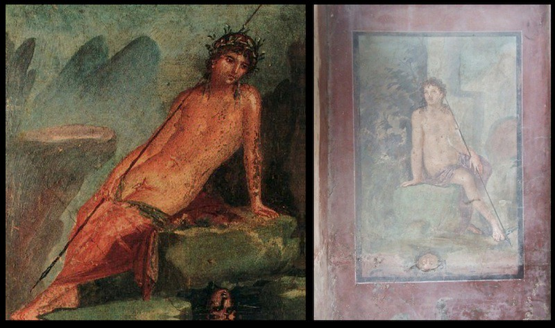 mirrors in water the story of narcissus art mirrors art but it is where we the first frescoes depicting this story
