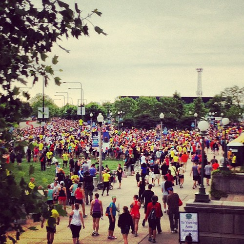 Good morning for a 10 mile run. #soldierfield10
