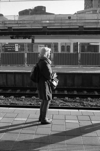 Lady waiting