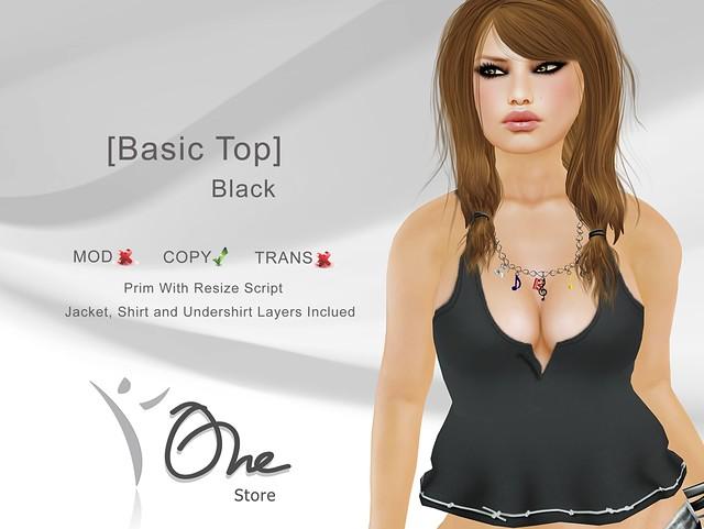 [Basic Top] Black