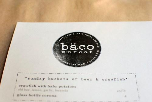 baco menu
