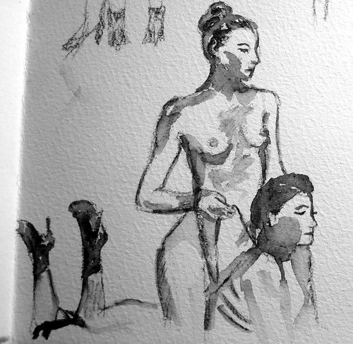 Sketches of BDSM performers