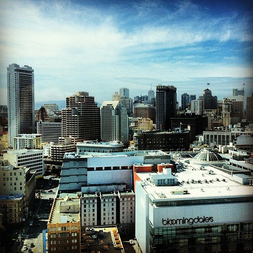 View from my room on the 30th floor of the InterContinental San Francisco Hotel
